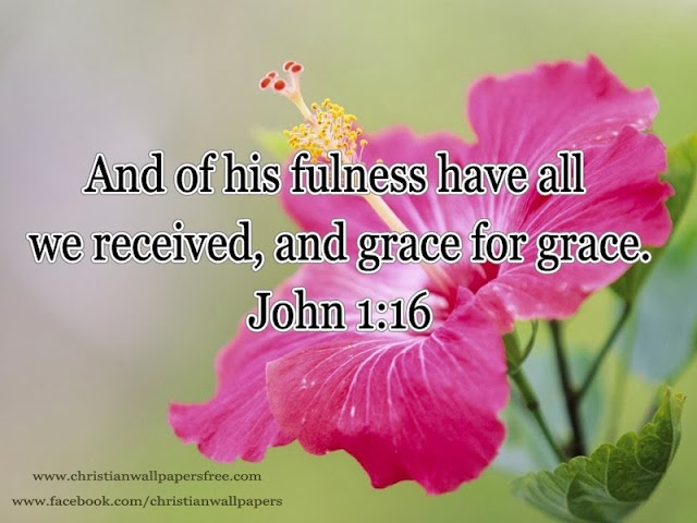 Grace and Blessings of Christ Wallpaper