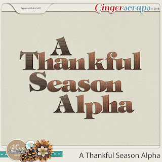 Creative Team, Annemarie, for GingerScraps -  A Thankful Season Kit by JoCee Designs with Coordinating Freebie and A Year of Blessings! November 2018 Freebie