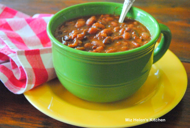 Slow Cooker Baked Pinto's at Miz Helen's Country Cottage
