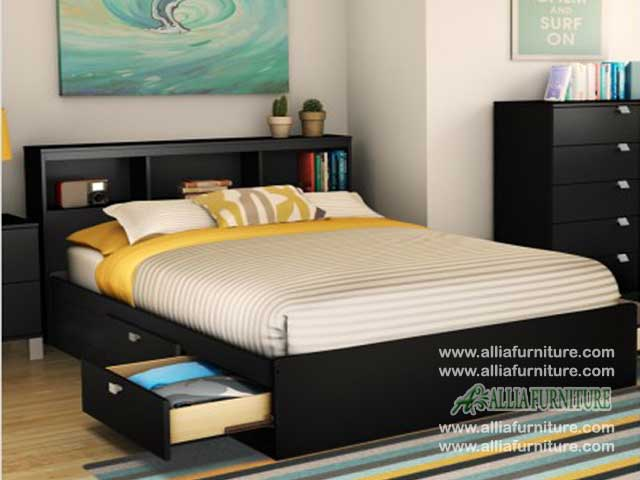 tempat tidur minimalis plus laci nova