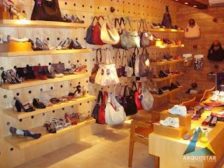 projeto arquitetura interiores loja calçado acessórios femininos