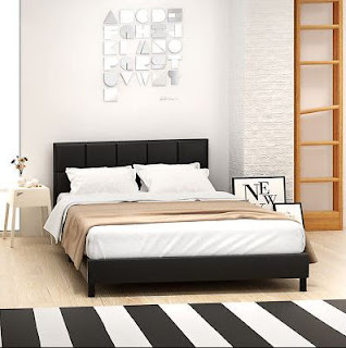 Looking for bed double bed Queen room with storage in Walnut finish that matches our space