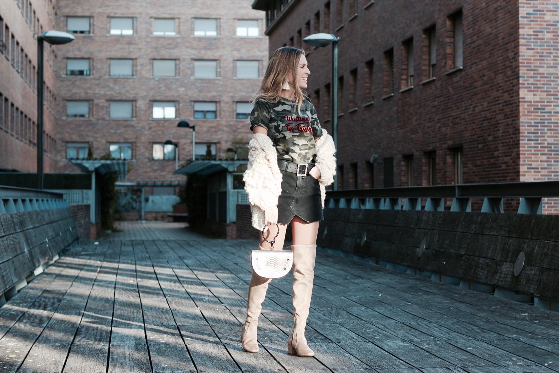 como llevar falda en invierno