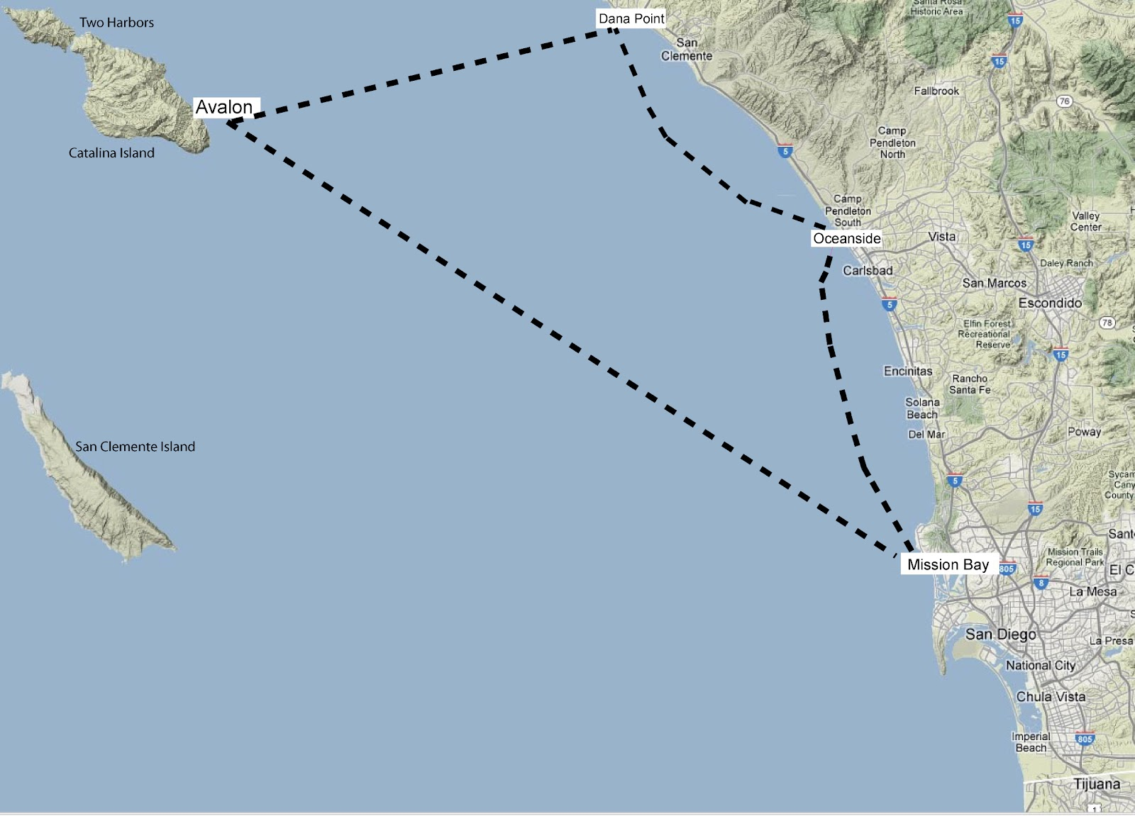 Sailing From San Go To Catalina Island