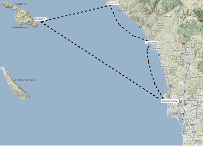 sailing from San Diego to Catalina Island