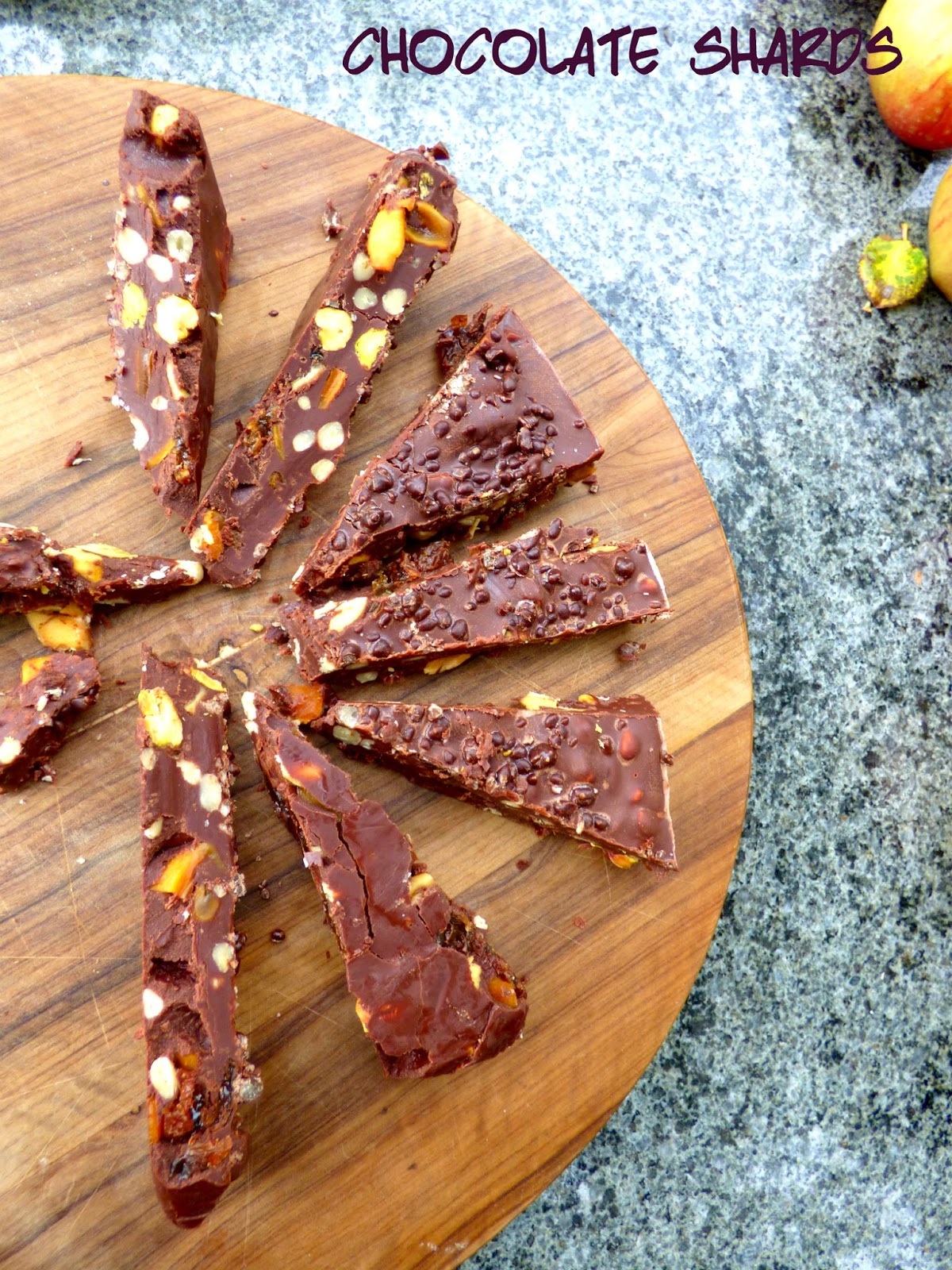 Chez Maximka Fruit Amp Nut Chocolate Shards With Popping Candy