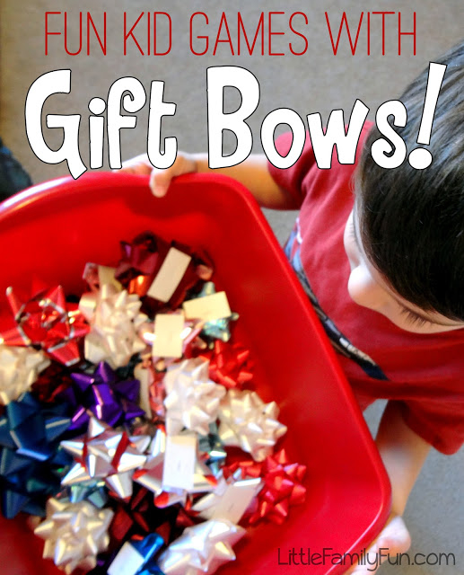 these christmas games would be great for parties or even as birthday party games all you need is a bag of bows and kids who like to have fun - Fun Christmas Games For Kids