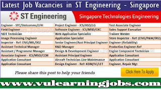 ST Engineering Jobs & Careers - Jobs In Asia - Singapore