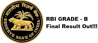 RBI Grade-B 2017 Result Out