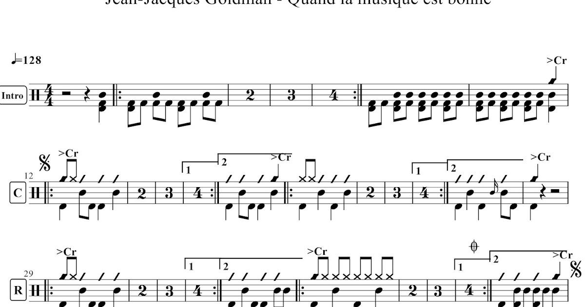 Partitions gratuites p...1 2 3 Goldman Guitare