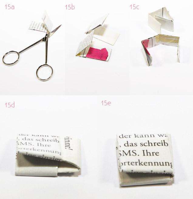 Taschen selber machen aus alten Zeitschriften Anleitung