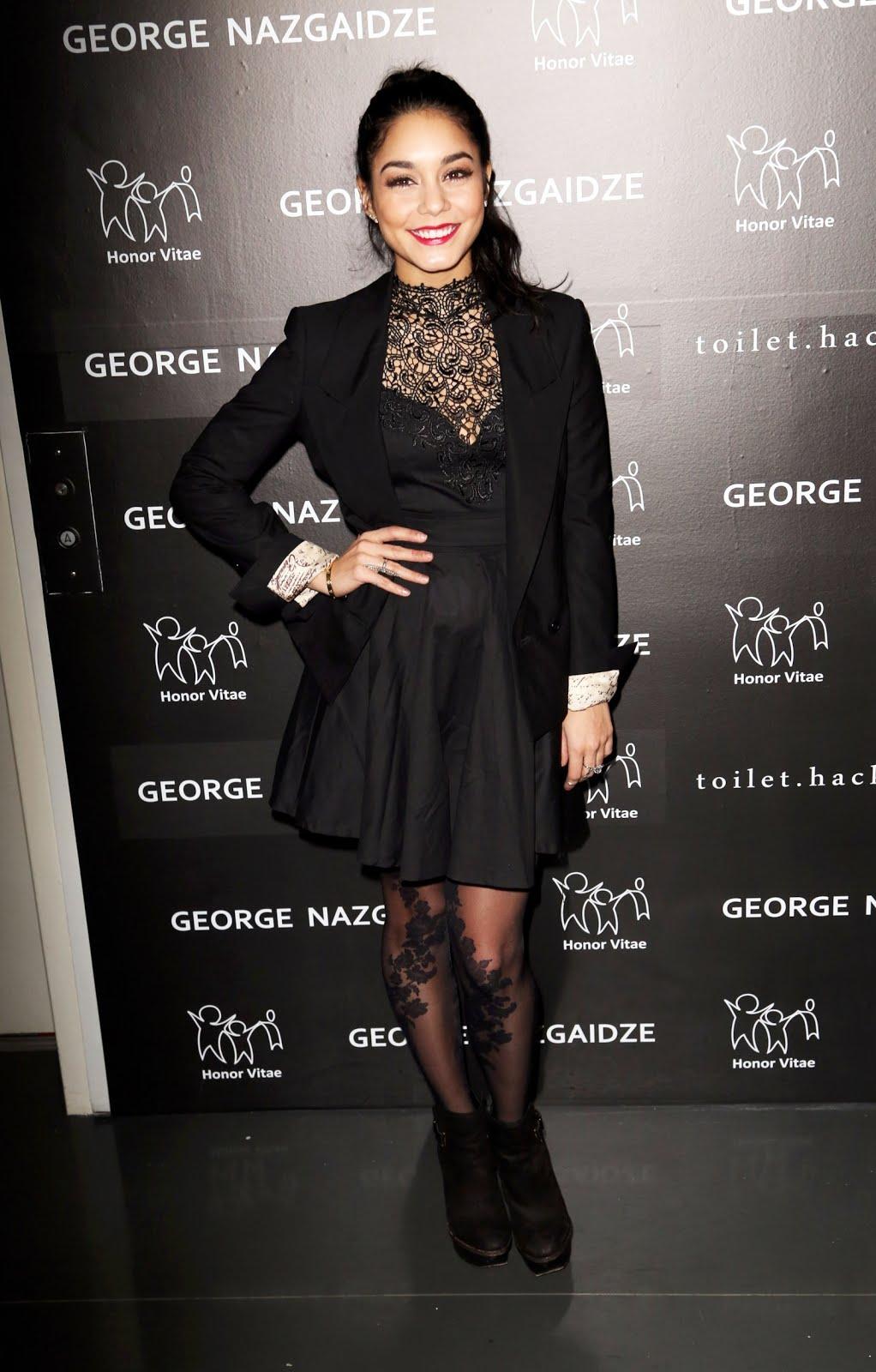 Vanessa Hudgens Charity Meets Fashion Holiday Celebration