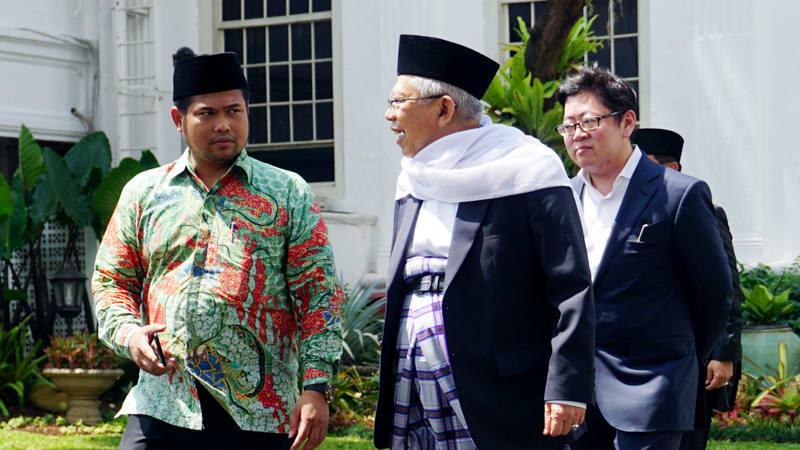 KH Ma'ruf Sambangi Istana Negara Jelang Pengumuman Cawapres Jokowi