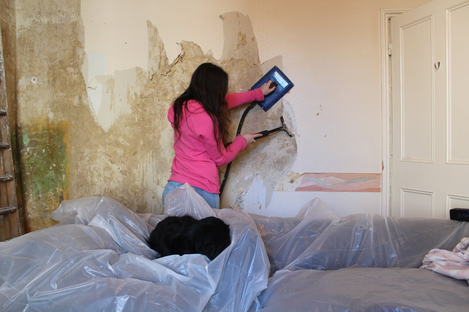 home renovation blog removing wallpaper