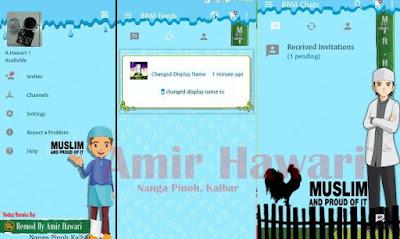 BBM MOD Tema Muslim Terbaru Based 2.12.0.9 APK