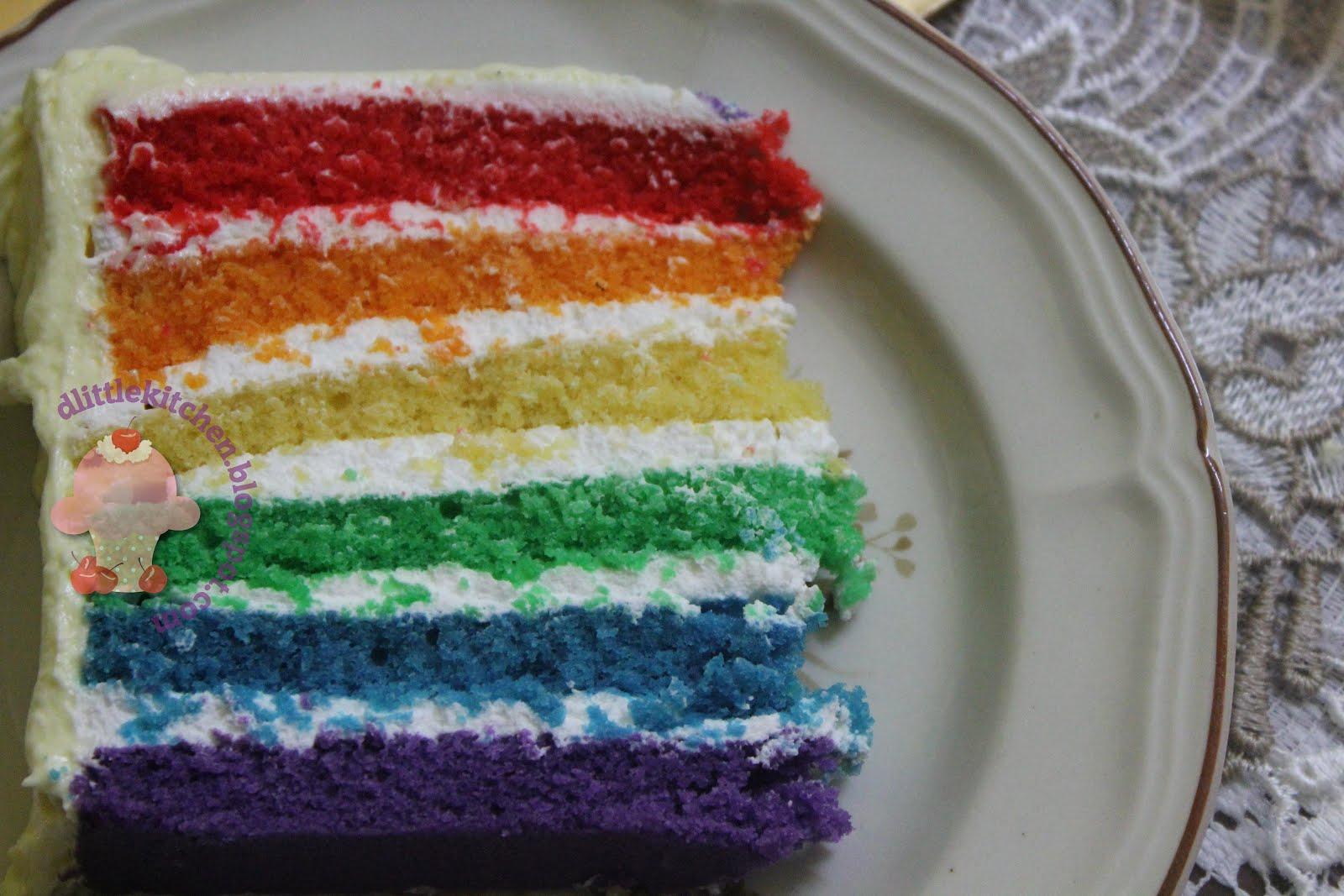 Rainbow Cake Recipe Italian: D'little Kitchen: Italian Rainbow Cake