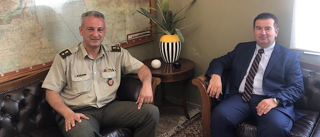 Ο νέος Διοικητής ΚΕΜΧ στον Αντιπεριφερειάρχη Αργολίδας εν όψει παραχώρησης μέρους του Στρατοπέδου