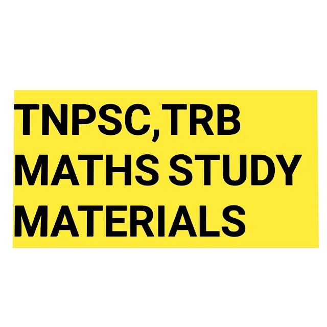 கணக்கு முக்கிய வினா விடை குறிப்புகள் | TNPSC | TRB | MATHS STUDY MATERIALS FREE DOWNLOAD