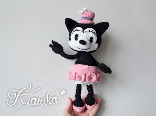 Krawka: Vintage Ortensia the cat crochet pattern by Krawka, Oswald Lucky Rabbit, Minnie Mouse Disney Mickey Mouse