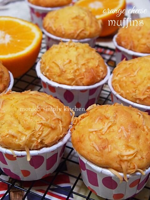 resep orange cheese muffin