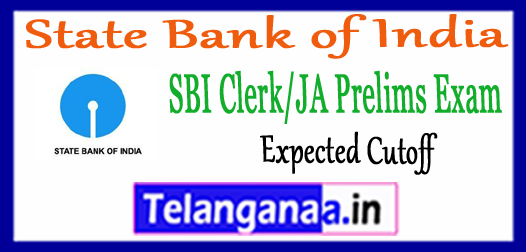 SBI State Bank of India Clerk JA Prelims Expected Cutoff 2018