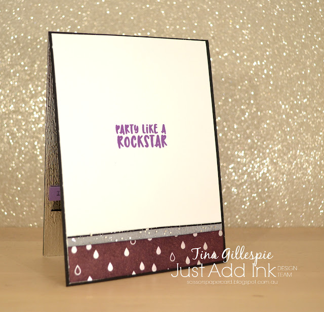 scissorspapercard, Stampin' Up!, Kindred Stamps, Just Add Ink, Rock On, Shine On SDSP, Subtle DTIEF, Blends