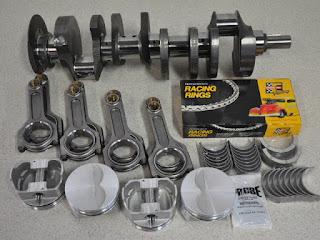 stroker kit per motore V8 americano, albero motore (forgiato), pistoni (forgiati), bielle (forgiate) e bronzine