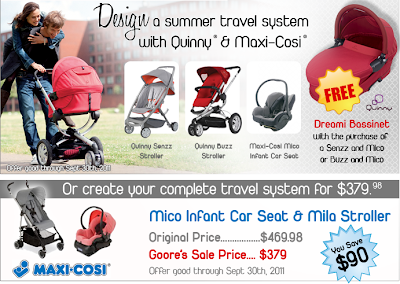 pick a custom travel system with maxi cosi and quinny lenaloo. Black Bedroom Furniture Sets. Home Design Ideas