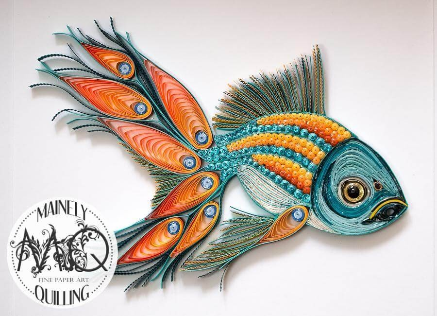 09-Pea-Fish-Stacy-Bettencourt-Quilling-Animals-and-Game-of-Thrones-www-designstack-co