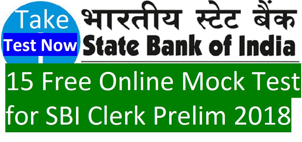 sbi clerk pre free online mock test