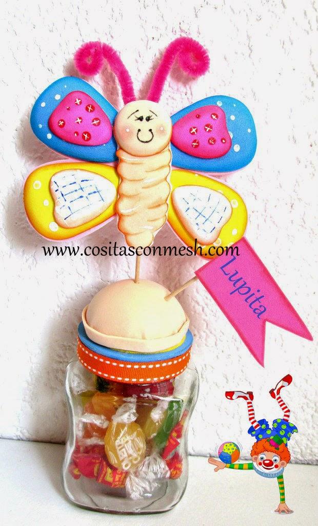 Manualidades-dulcero-mariposa-foamy