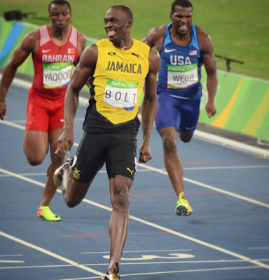 1a1ab - #Rio Olympics 2016:Usain Bolt wins third straight Gold medal in 200m race as promise