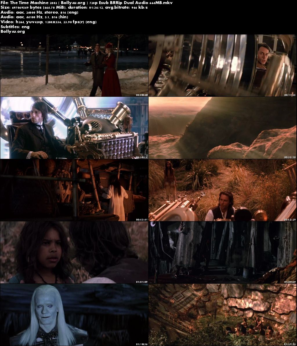 The Time Machine 2002 BluRay 650MB Hindi Dual Audio 720p Download