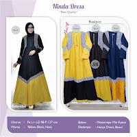 Jual Baju Busana Muslim Ninda Dress
