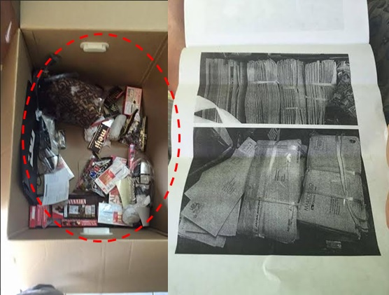 OFW's balikbayan box contents allegedly replaced with bundles of newspapers, mails
