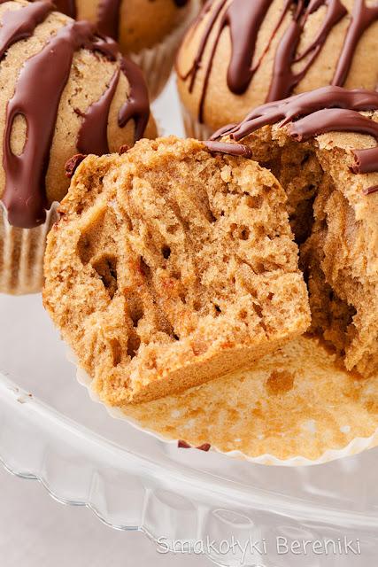 Muffiny z polewą czekoladową