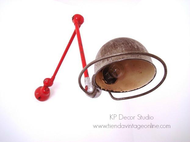 Comprar lámpara Jielde antigua con 2 brazos articulados