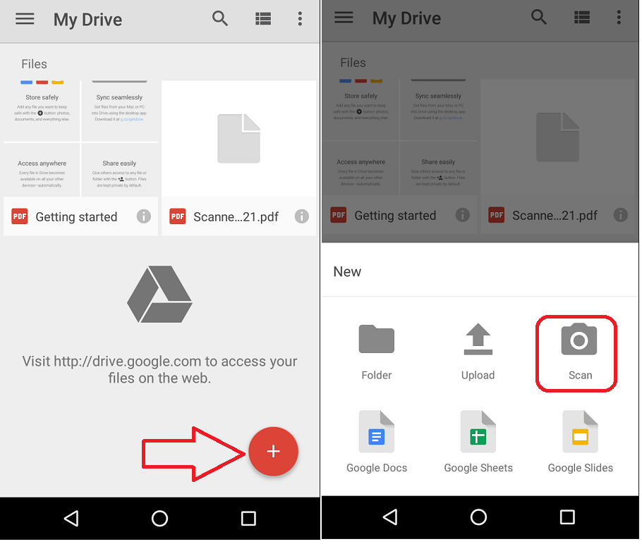 how to use word doc in google drive on phone