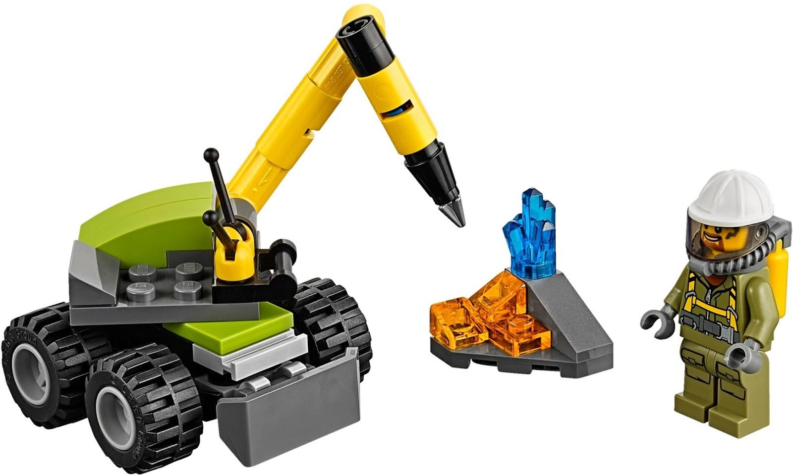 Brick Builder Lego City Volcano