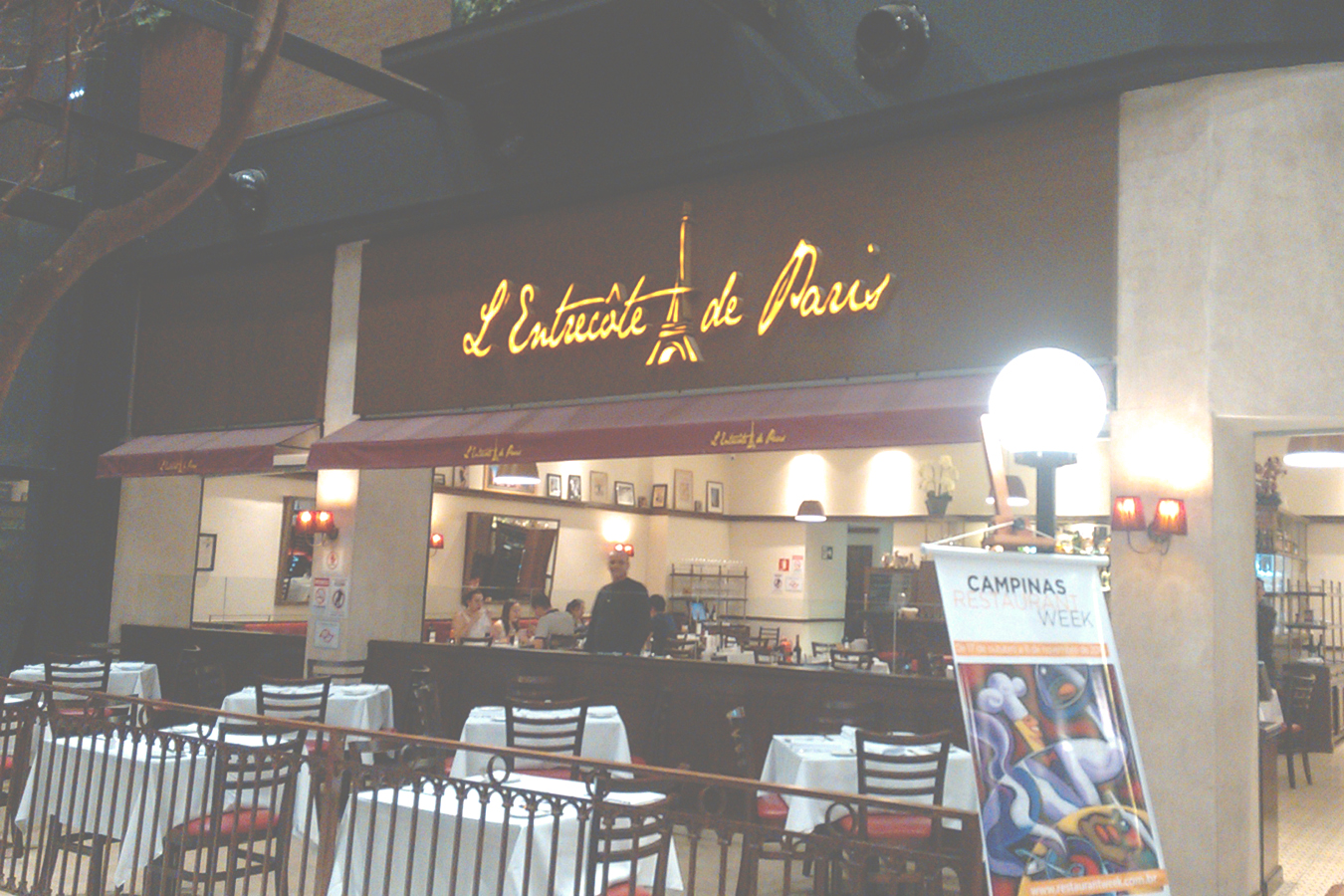 fachada restaurante L'Entrecôte de Paris campinas