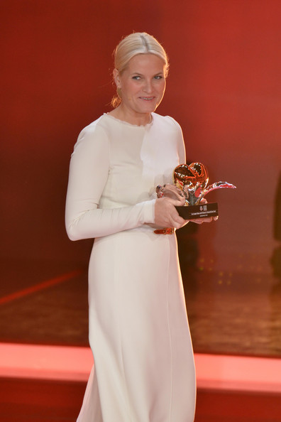 Crown Princess Mette-Marit of Norway attends the 'Ein Herz fuer Kinder' Charity gala in Berlin, Germany