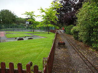 Crazy Golf course and Miniature Railway at Manor Park in Glossop