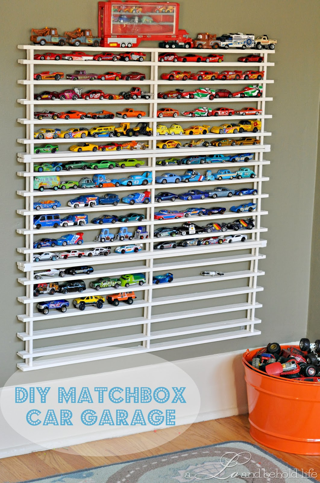 DIY Matchbox Car Garage **UPDATED**   A Lo and Behold Life