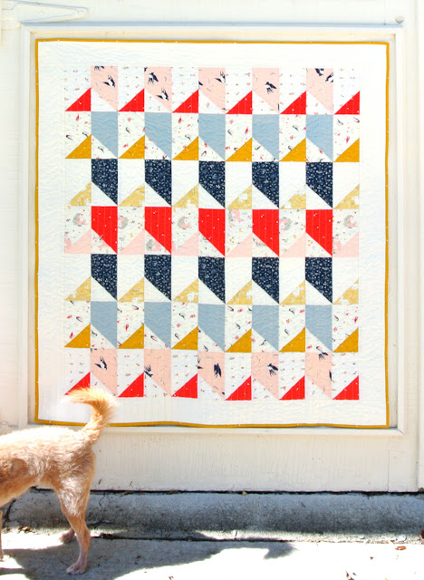 Little Houses - a free baby quilt pattern from Suzy Quilts