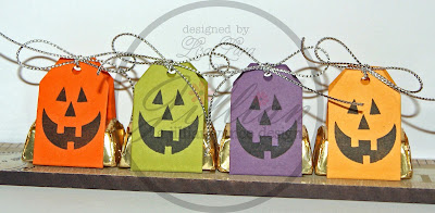 Pumpkin Face Nugget Tags by Lisa Lara