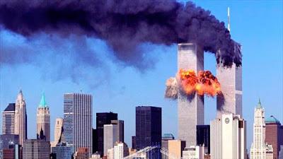 Torres Gemelas de Nueva York (este de EE.UU.) en el momento del ataque en 11 de septiembre de 2001.