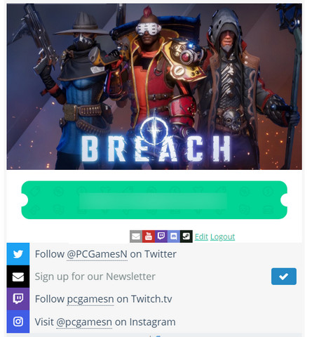 Giveaway Game Breach
