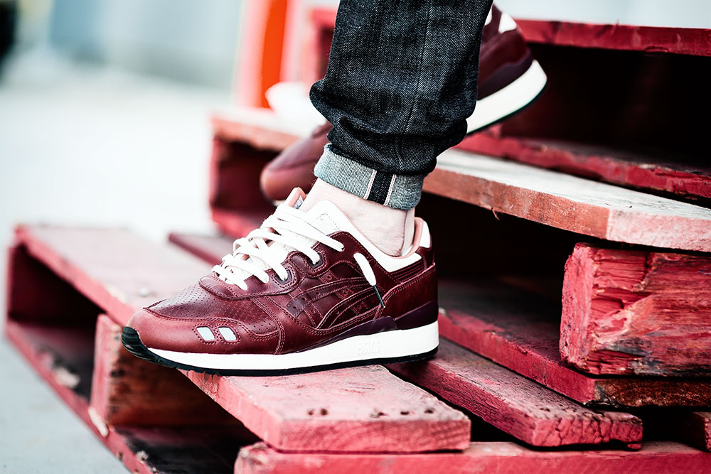 Packer X J.Crew X Asics Tiger GLIII '1907 Collection' Oxblood Sneakers by Tom Cunningham