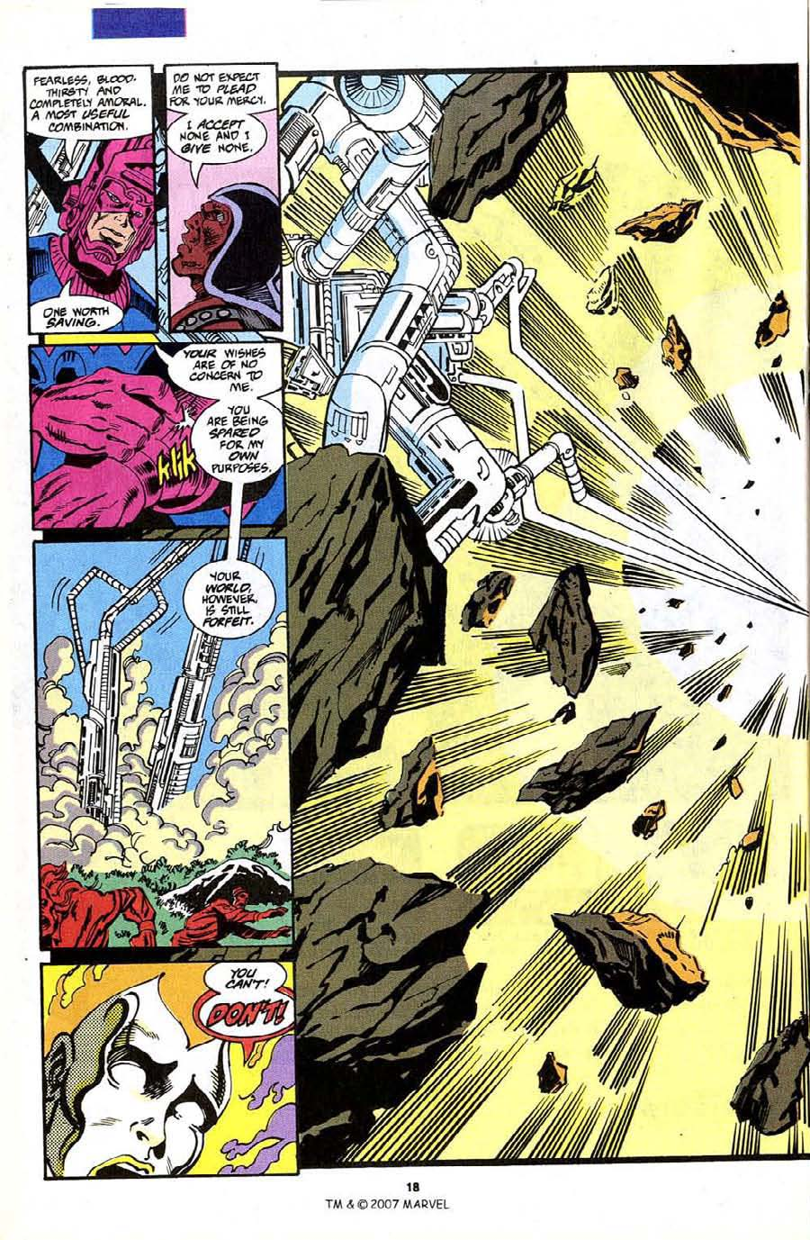 Read online Silver Surfer (1987) comic -  Issue #70 - 20