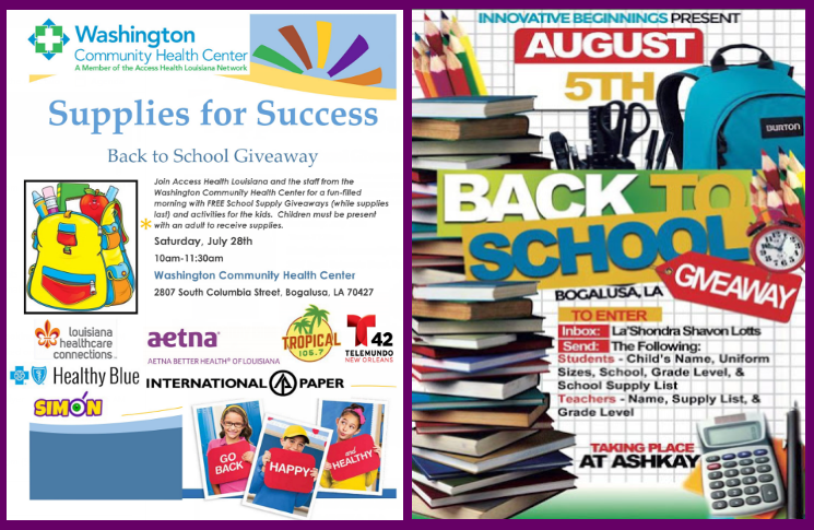 Two Back to School Giveaways in Bogalusa